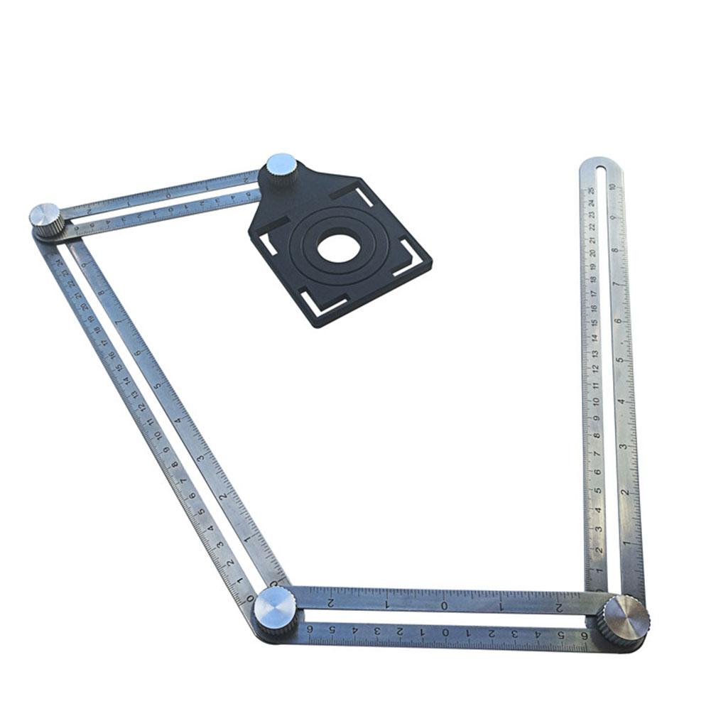 Stainless Steel Multi Angle Hole Locator Ruler Stainless steel opening locating ruler