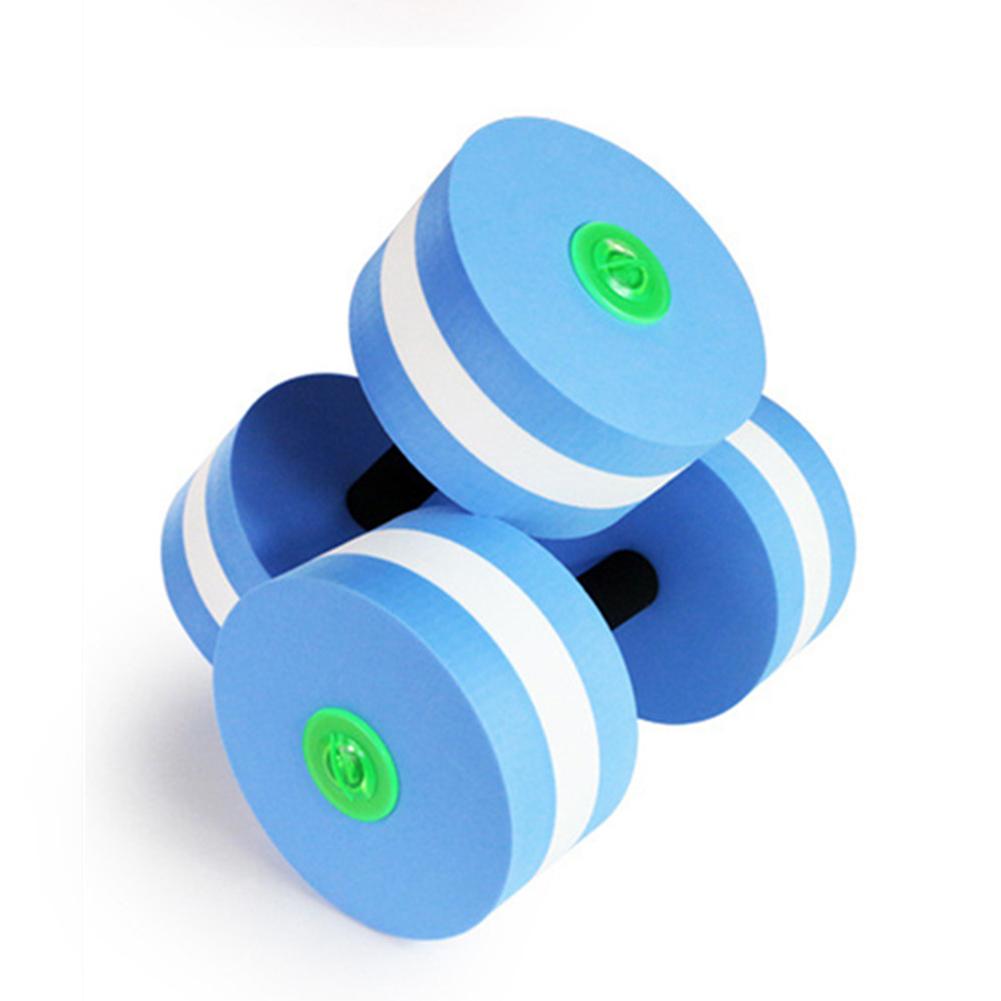 2PCS Water Aerobics Dumbbells Swimming Training EVA Dumbbells Pool Resistance Fitness Barbells blue