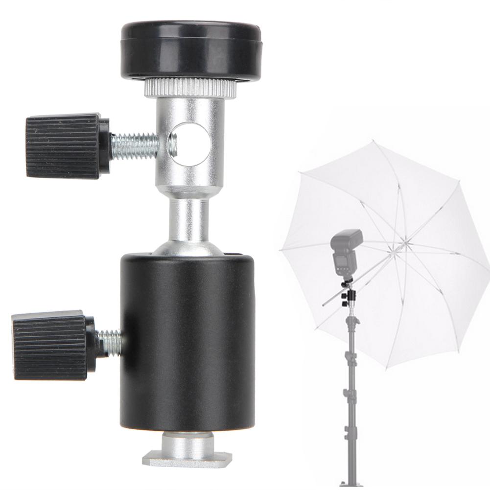 1 Piece Of C Type?Metal Camera Adapter Flash Holder Small Gimbal Flash Bracket black