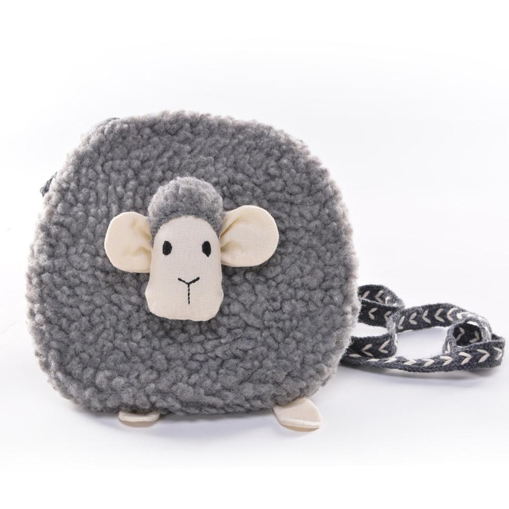 Children Inclined Shoulder Bag Cartoon Animal Mini Coin Purse Dark gray