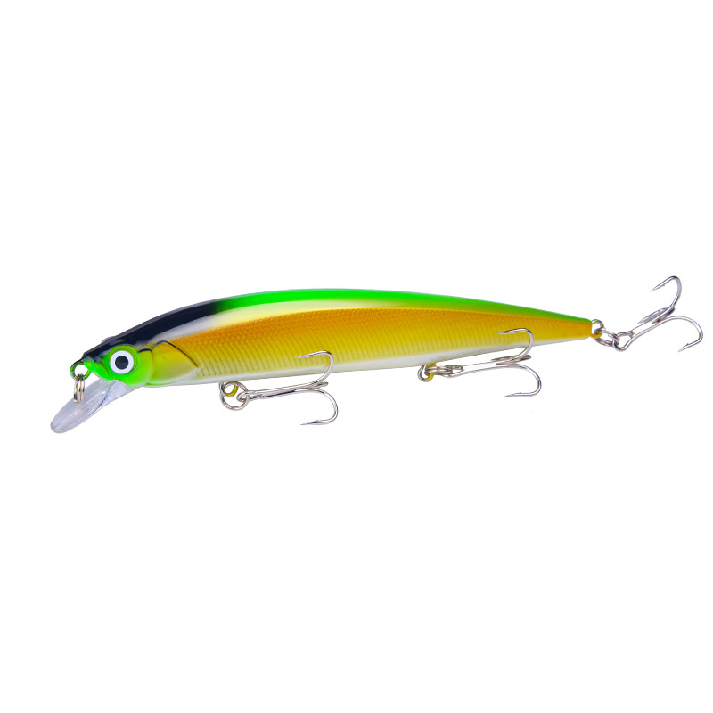 3D Eyes Lead Minnow Type 14cm / 18.3g 9 Colors Top Water Fishing Lures Bass Artificial Bite 4#
