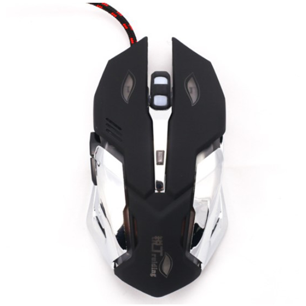 M600 Wired Mouse Luminous Professional Gamer Gaming Mouse Computer Wired Mouse black