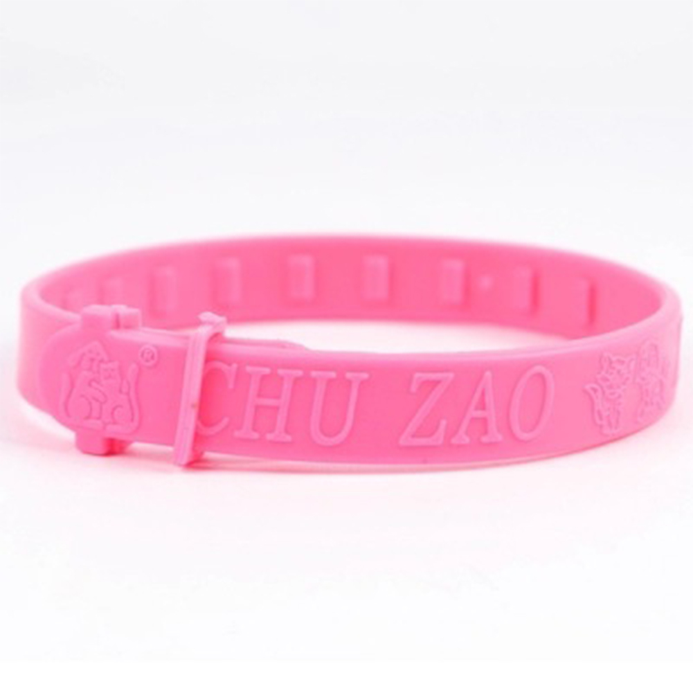 Adjustable Pet Collar Anti-insect Rubber Strap Fleas Ticks Mites Louse Mosquito Repellent Neck Ring for Cat Pink
