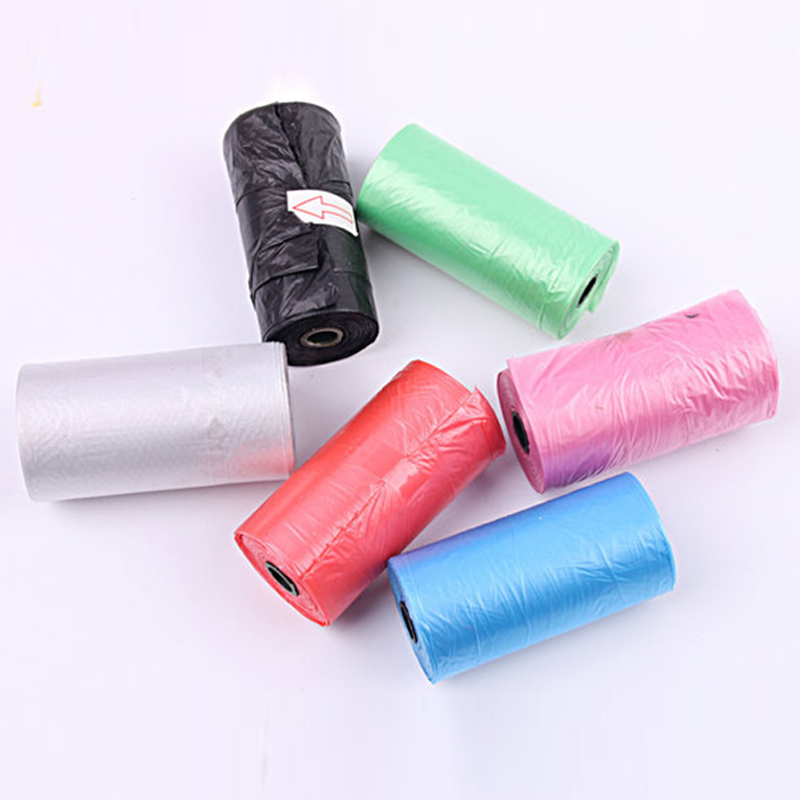 20pcs/Roll Pet Dog Poop Bags Puppy Waste Poo Pick Up Clean Bag Random Color 20pcs/roll
