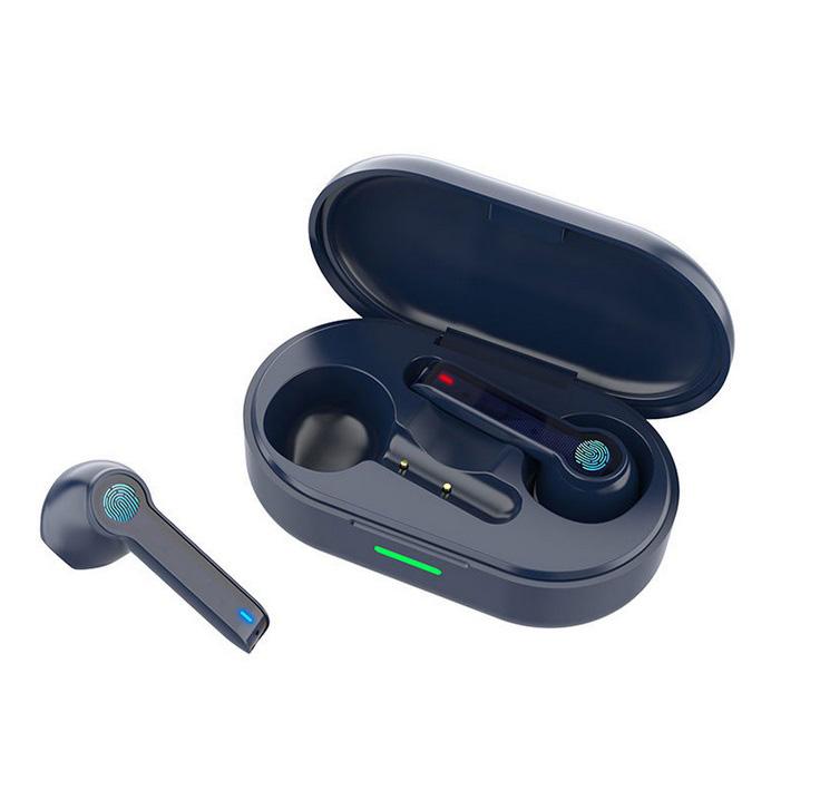 L32 Tws Bluetooth  Headset Hifi 5.0 Waterproof Sports Wireless Built-in Earphone With Microphone Navy