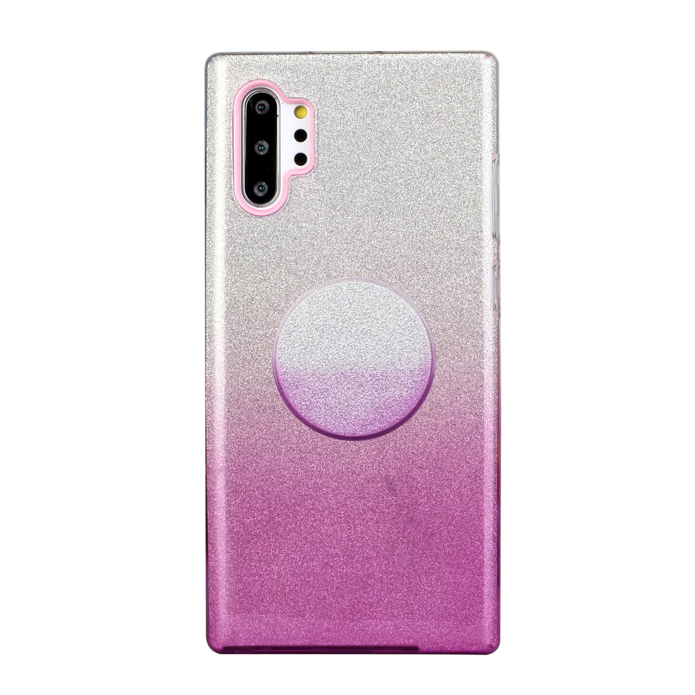 for HUAWEI P20 LITE/P30 LITE/P40 LITE/Nova6SE/Nova 7i Phone Case Gradient Color Glitter Powder Phone Cover with Airbag Bracket purple