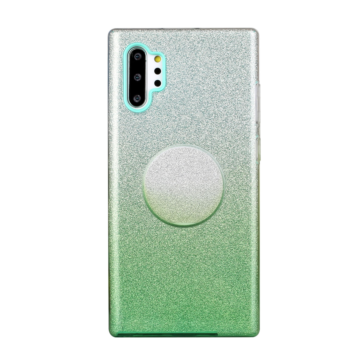 for HUAWEI P20 LITE/P30 LITE/P40 LITE/Nova6SE/Nova 7i Phone Case Gradient Color Glitter Powder Phone Cover with Airbag Bracket green