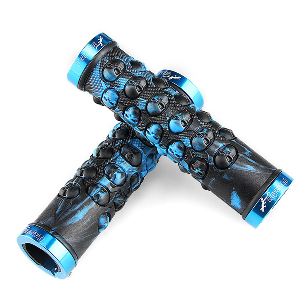 Propalm Rubber Bicycle Grips Sets for MTB Bike Handlebar Anti-Skid Handlebar Cover Bicycle accessories blue_HY-702EP