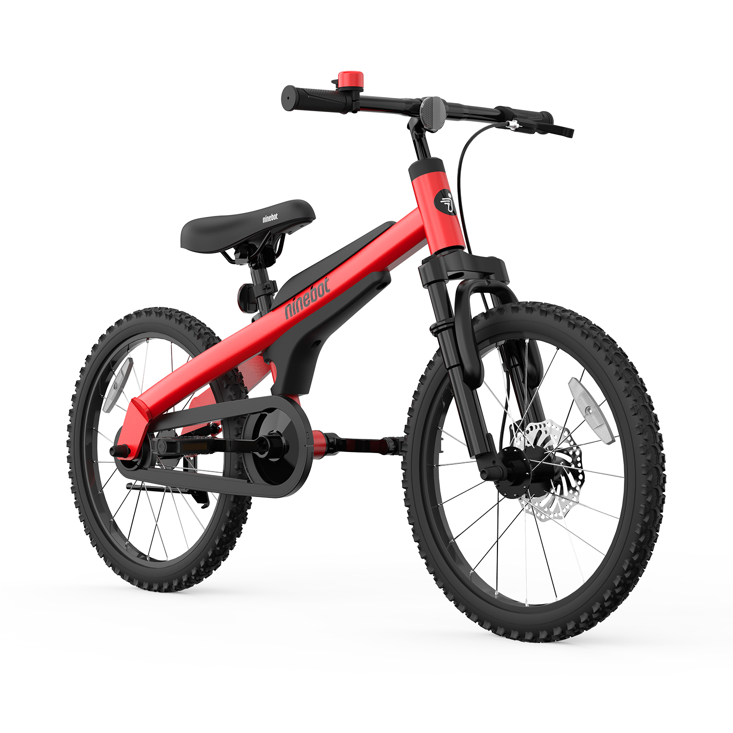 [US Direct] Original NINEBOT Kids Bike by Segway 18 Inch with Kickstand, Premium Grade, Recommended Height 3'9'' - 4'9'' (Blue) Red