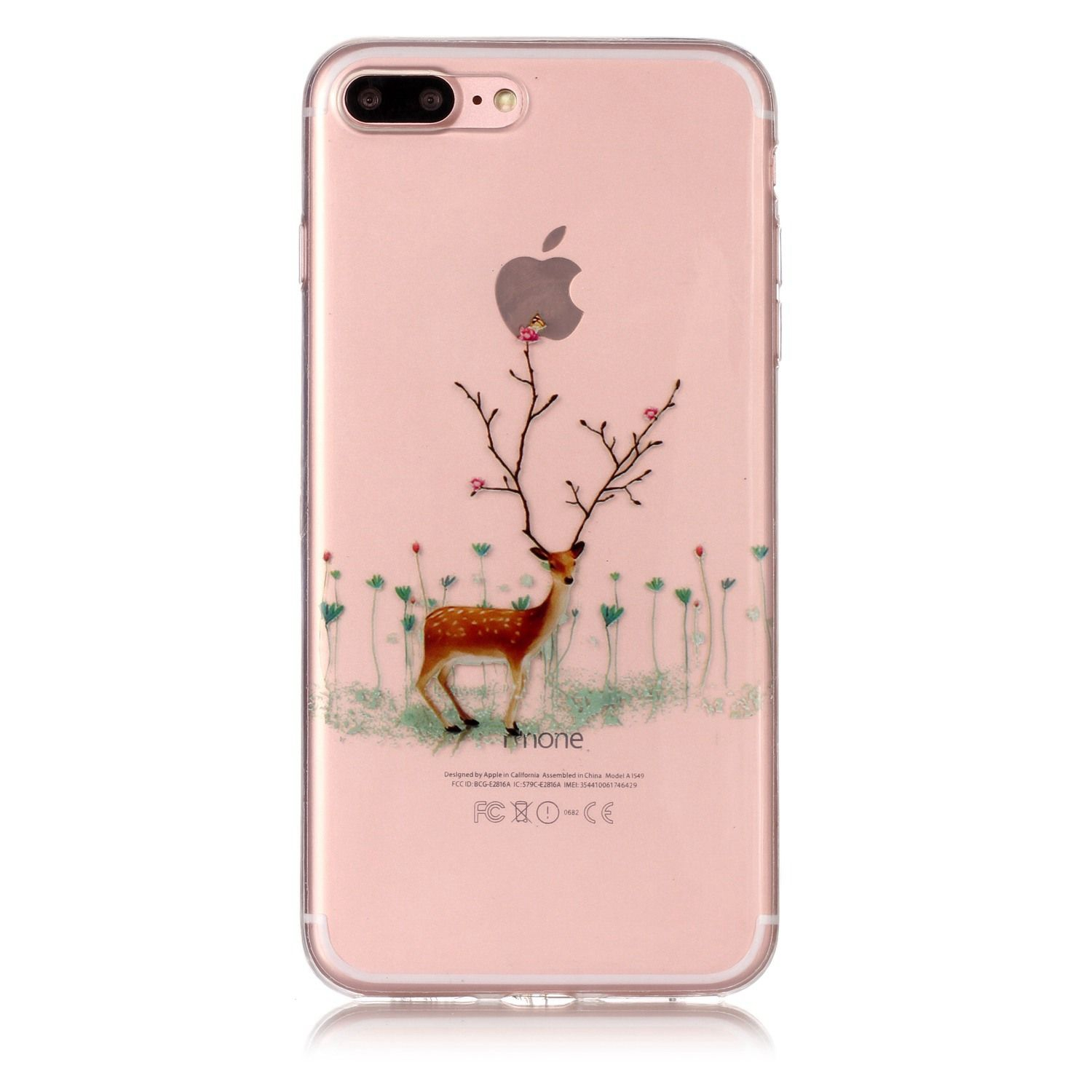 TPU Soft Shockproof Protective Phone Shell for iPhone7Plus Case Christmas Style Gifts