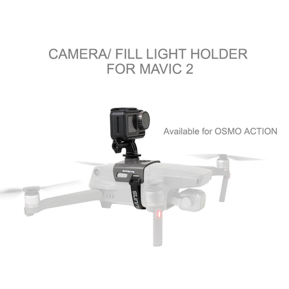 LED Light Camera Mounting Bracket or DJI Mavic 2 Insta360 Osmo Action Accessories gray