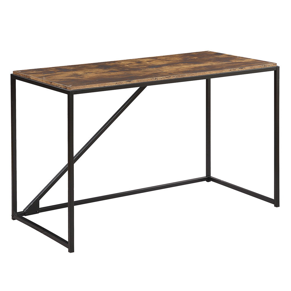 [US Direct] 46-inch Computer  Desk Industrial Style Modern Simple Laptop Table For Home Office Brown