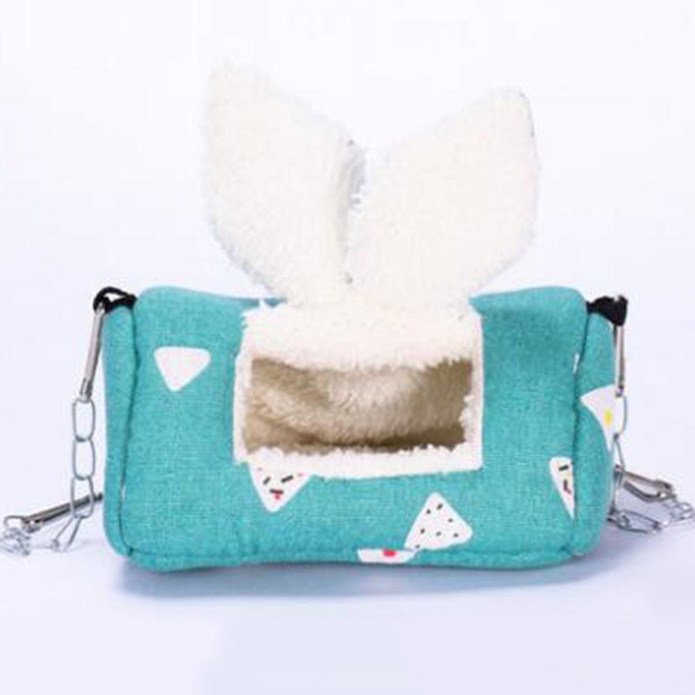 Sugar Glider Cotton Warm Nest Sleeping Bag Hanging Winter Sleeping Bag Hamster Rabbit Cat Sleeping Nest Pet Cage green_L