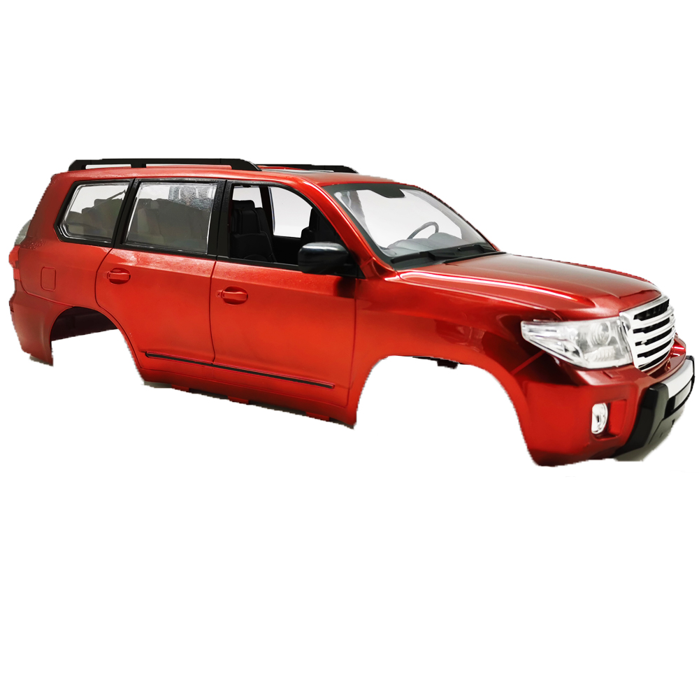 Wheelbase Body Car Shell for 1/12 RC Car Hard Plastic Land Cruiser Chasis Already Assembled with Pre-drilled Holes red