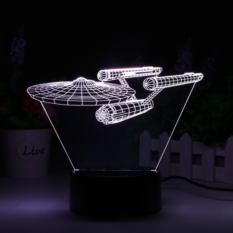 3D LED Lamp NCC-1701 Enterprise