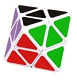 [US Direct] LanLan 4-axis Octahedron Cube Diamond Shape Puzzle (White)