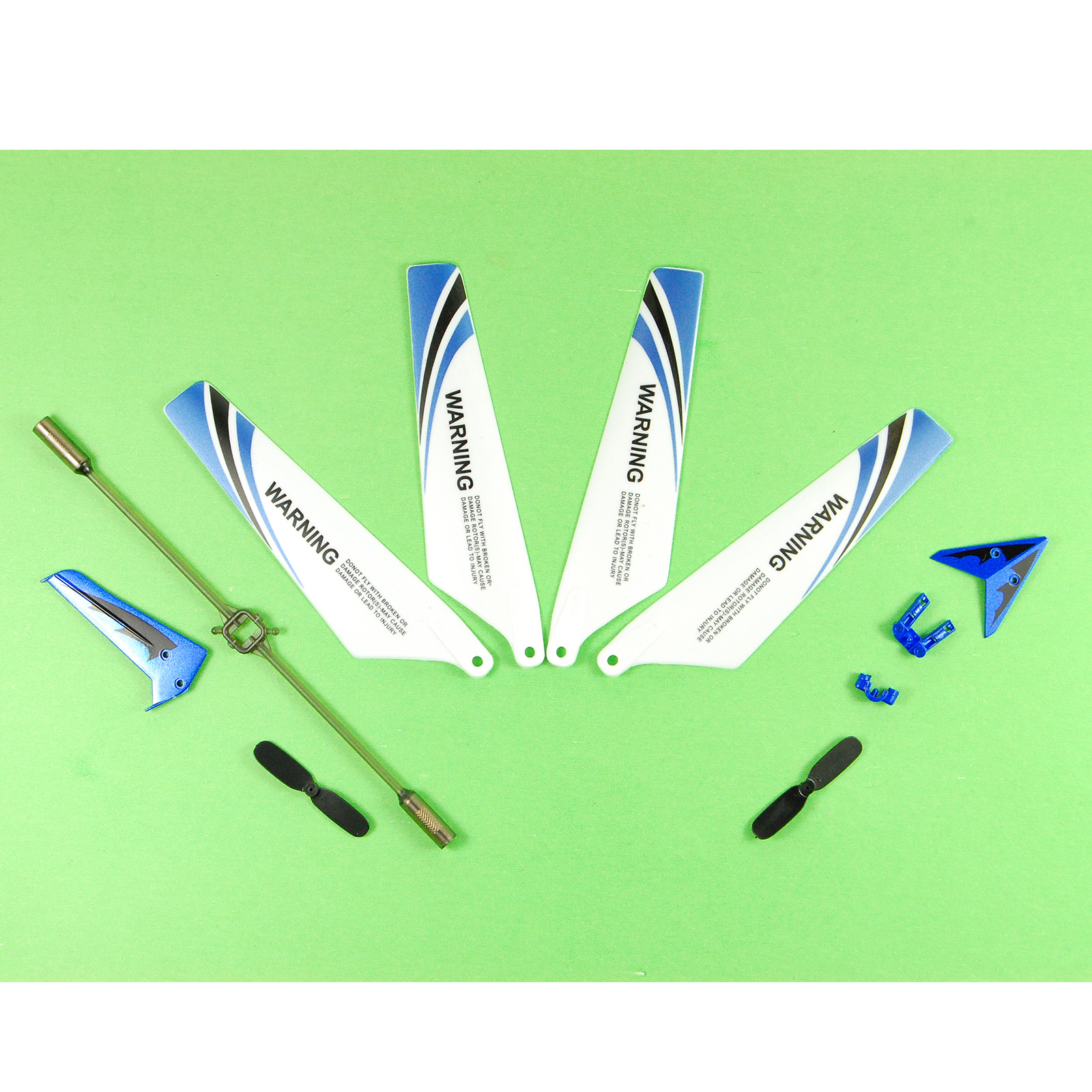 [US Direct] Syma S107 Parts, 4 Main Blades 1 Set of Tail Accessories 2 Tail Blades 1 Balance Rod