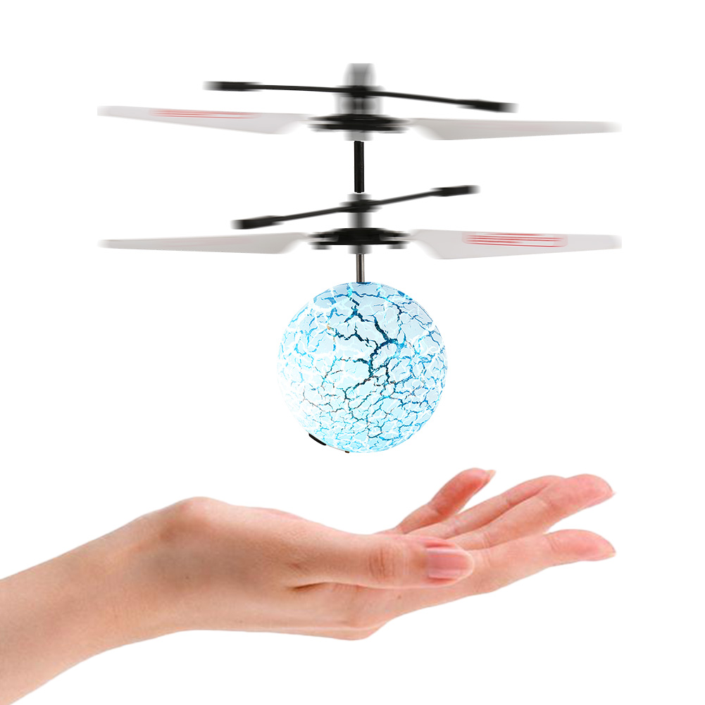 [US Direct] Infrared Sensor Discolor Flying Balls for Kids Hand Induced Flight, RC Flying Ball Drone Helicopter for Teenager with Remote Controller