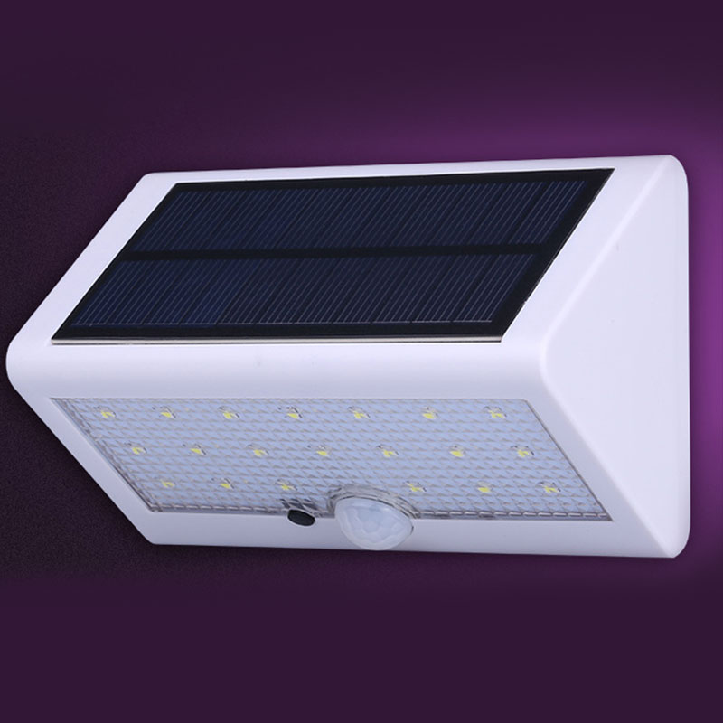 Solar Lights Bright 20LED Solar Power LED Security Lamp Motion Sensor Wireless Waterproof Wall Lights for Diveway Patio Garden Path