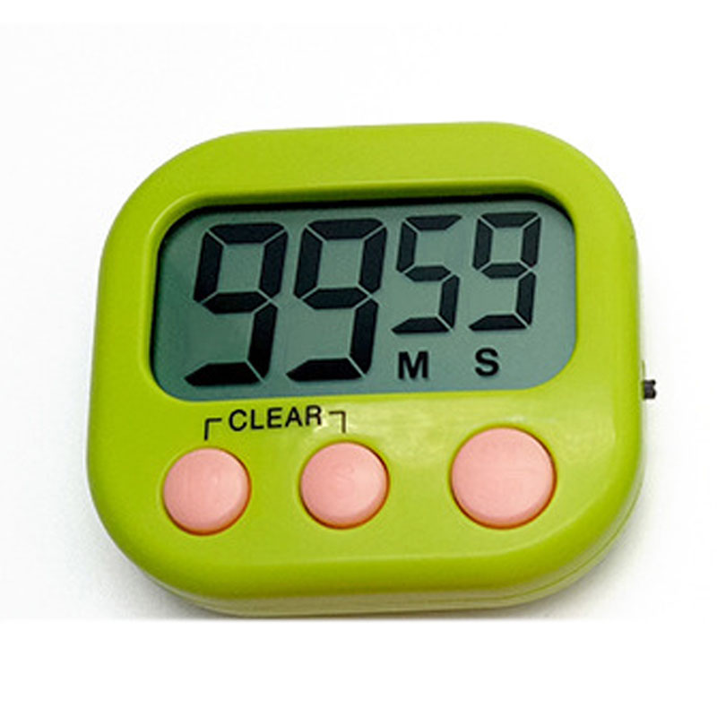 Large LCD Digital Magnetic Kitchen Countdown Timer Alarm with Stand Kitchen Timer Cooking Timer Alarm Clock Green