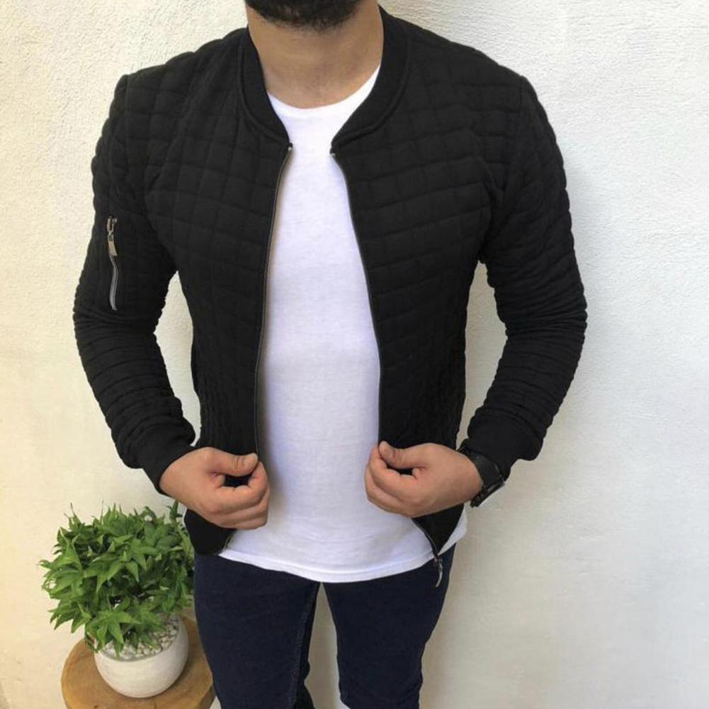 Slim Fit Jacket Leisure Sports Coat Men Casual Jacket black_XXXL