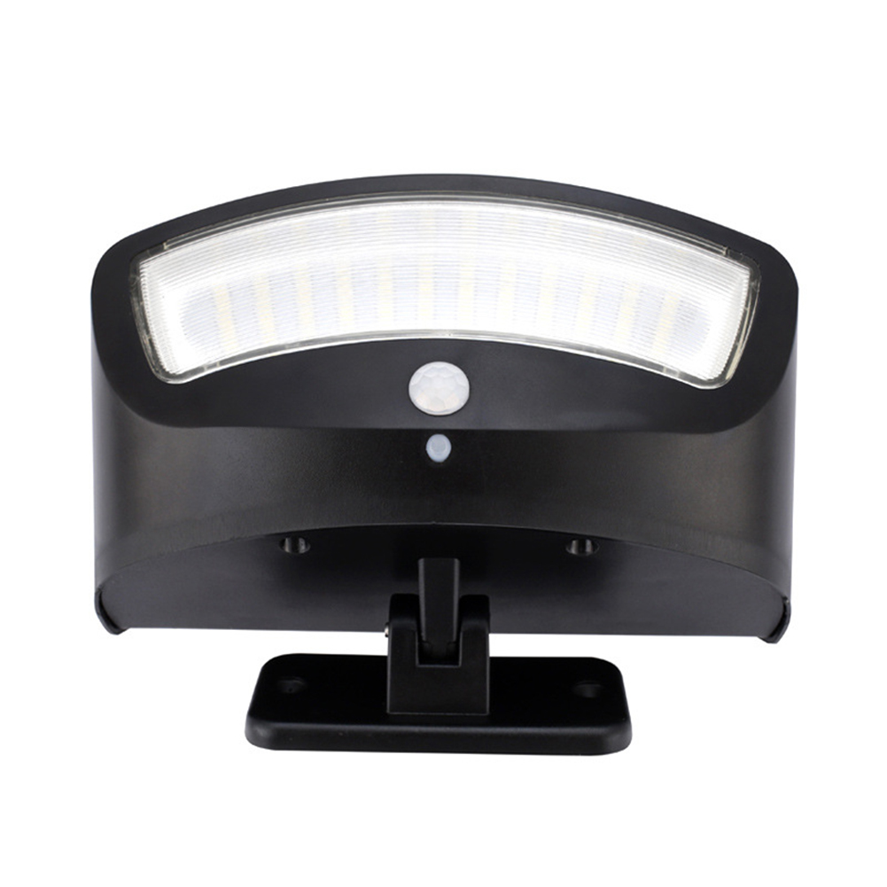 36LEDs Motion Sensor Light Waterproof Security Light Wireless Solar Powered Flood Light Wall Lamp for Patio Yard Black shell warm light