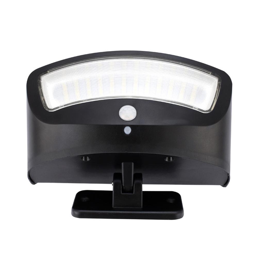 36LEDs Motion Sensor Light Waterproof Security Light Wireless Solar Powered Flood Light Wall Lamp for Patio Yard Black shell white light