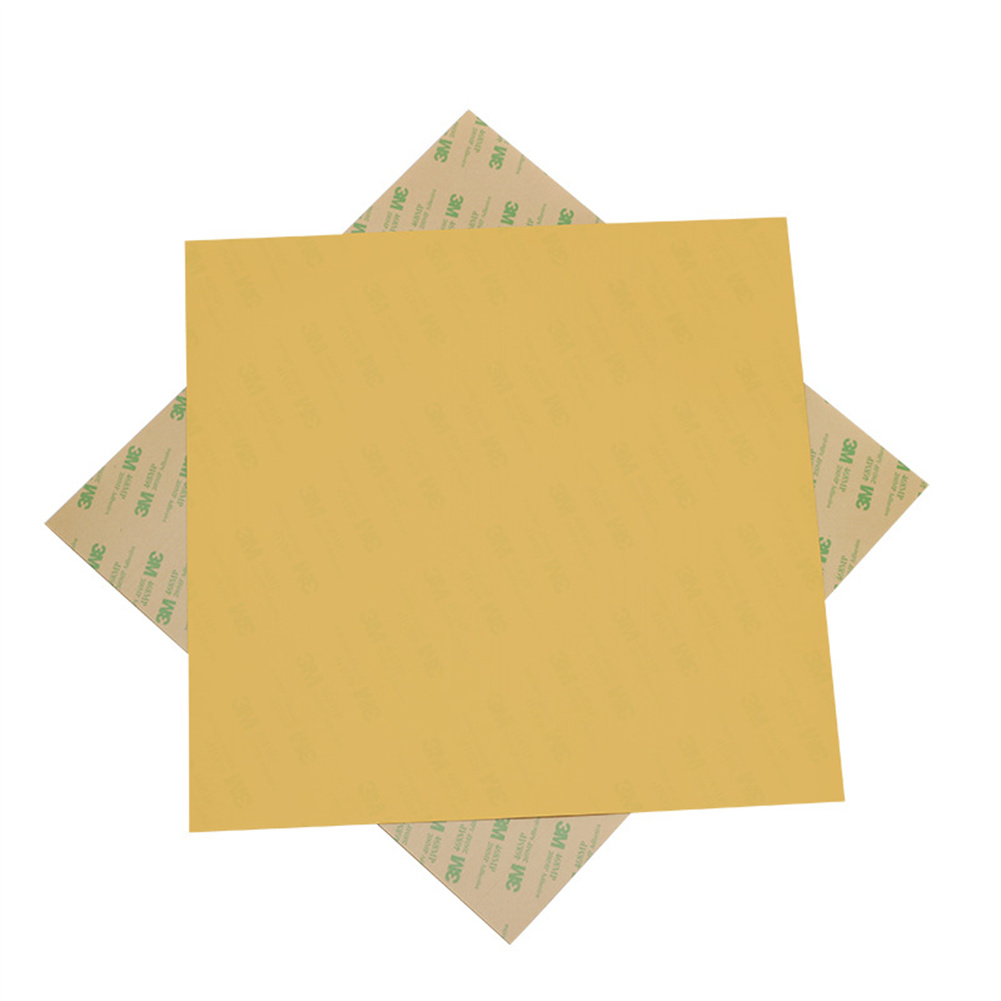 3d  Printer  Pei  Cold  Printing  Film  Panel 300*300*0.3mm Amber Adhesive Tape Accessories Film Panel As picture show
