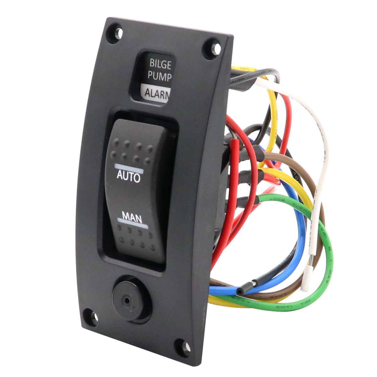 3-way Bilge Pump Switch Panel Automatic-off-manual 12v W/ Alarm For Boat Rv Boxed