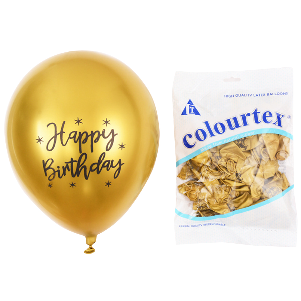 50pcs Balloons 12 Inch 2.8g Chrome Latex Balloon Happybirthday Party Decoration For Kids gold