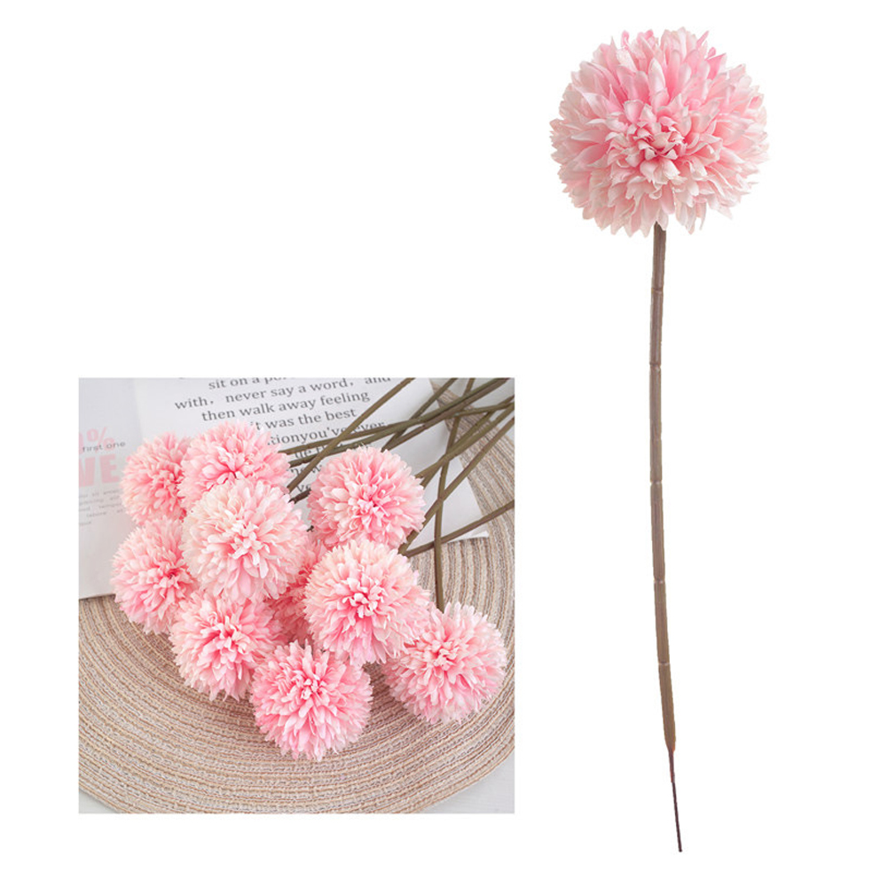 Simulation Globule Single-piece Globule Home Placement Simple And Clean Dried Flowers Melaleuca Small Fresh Light pink
