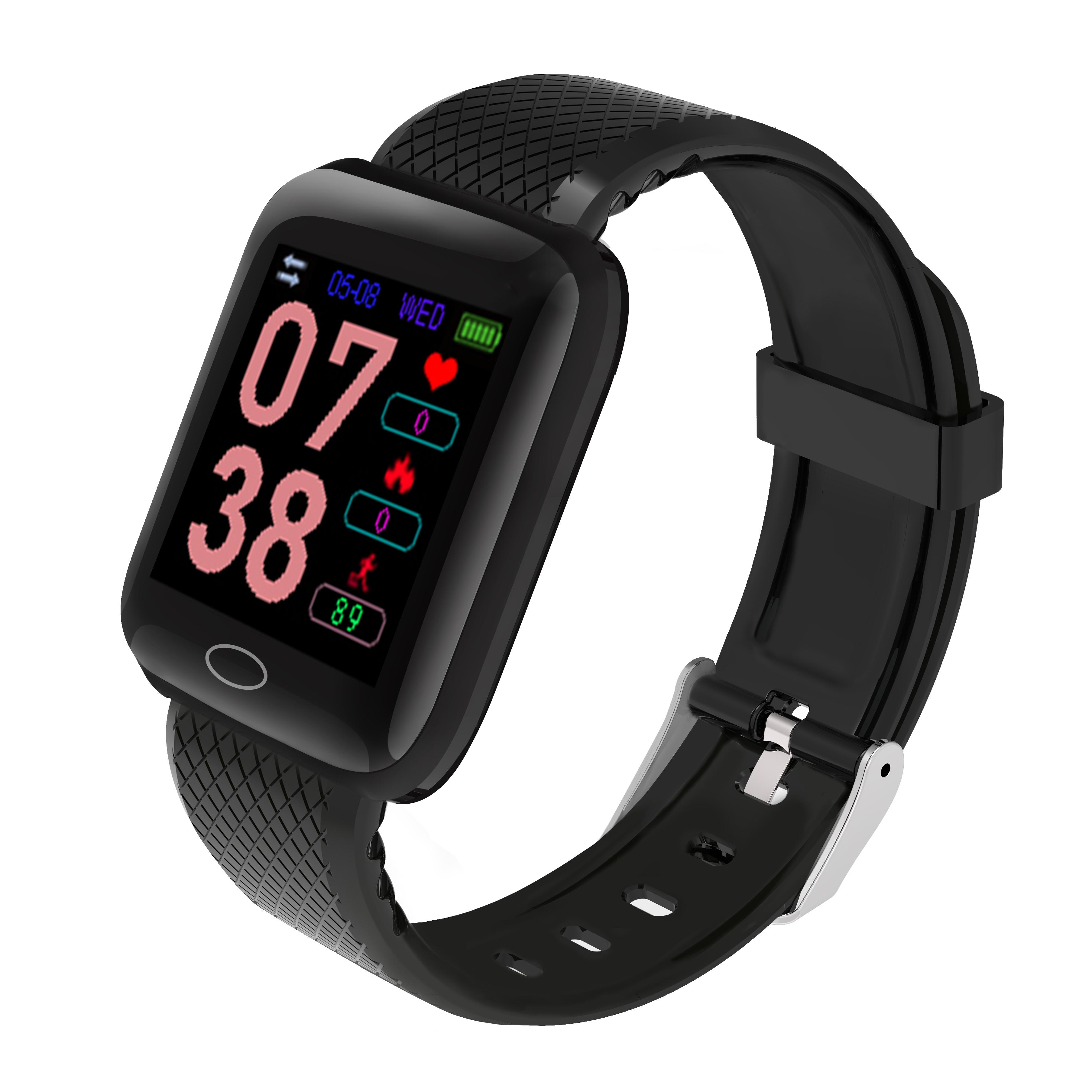 D13 Smart  Bracelet Step Heart Rate Blood Pressure Sleep Alarm Clock Usb Charge Color Screen Smart Bracelet black