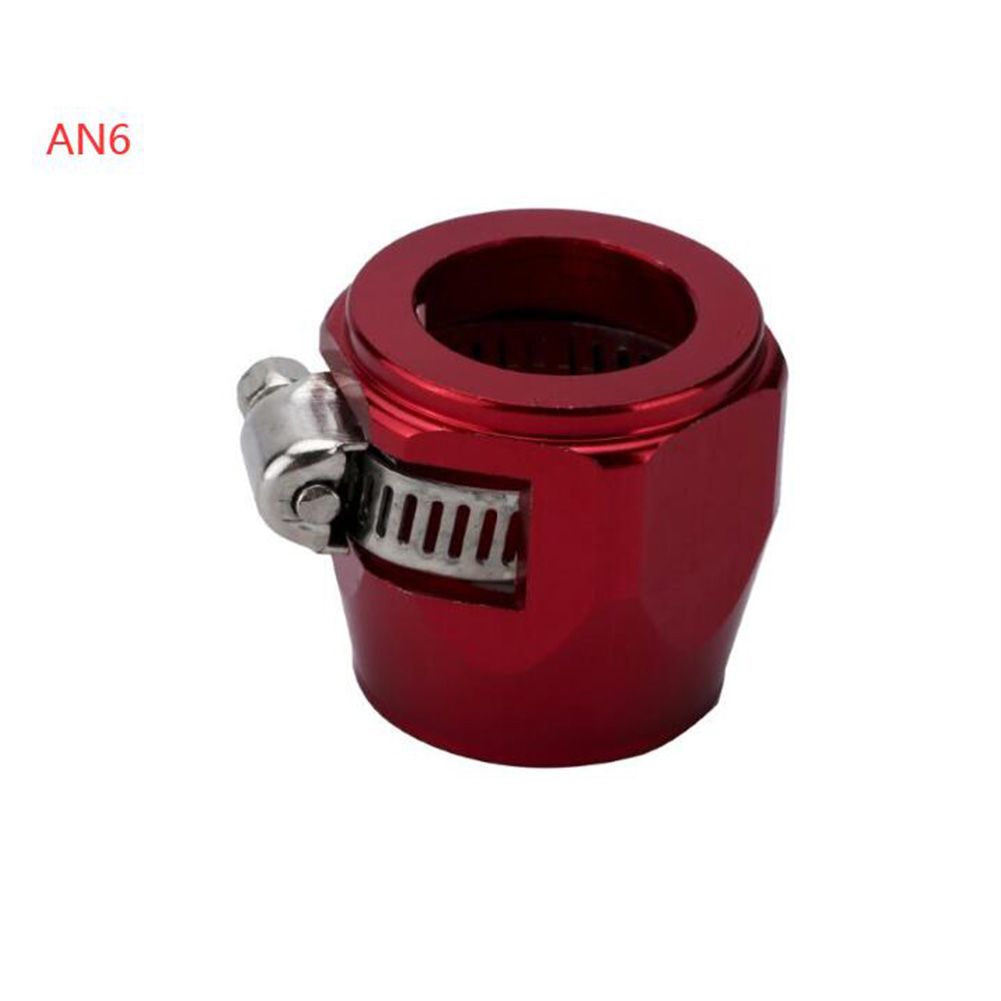 AN4 AN6 AN8 AN10 AN12 Car Hose Finisher Clamp Radiator Modified Fuel Pipe Clip Buckle Red-AN6
