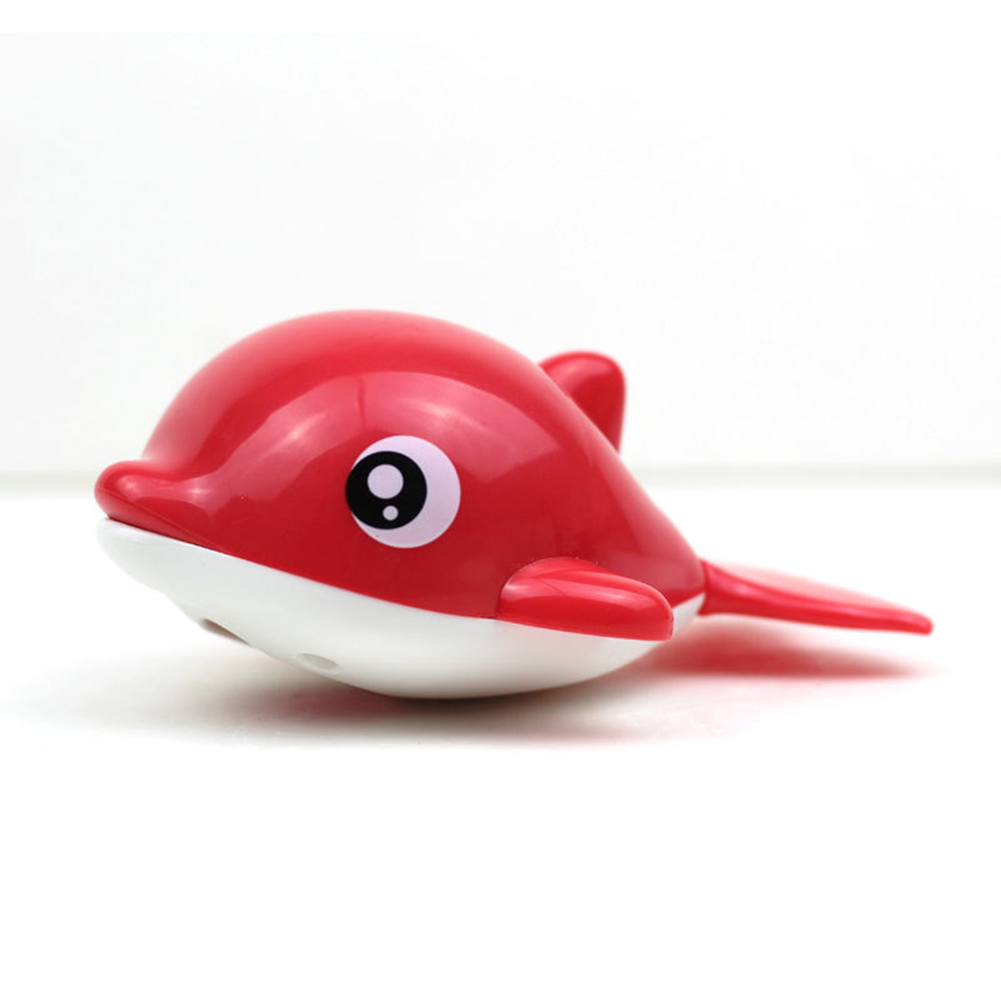 Baby Wind-up Clockwork Playing Toys Cute Cartoon Animal Shape Toy For Kids Dolphin red