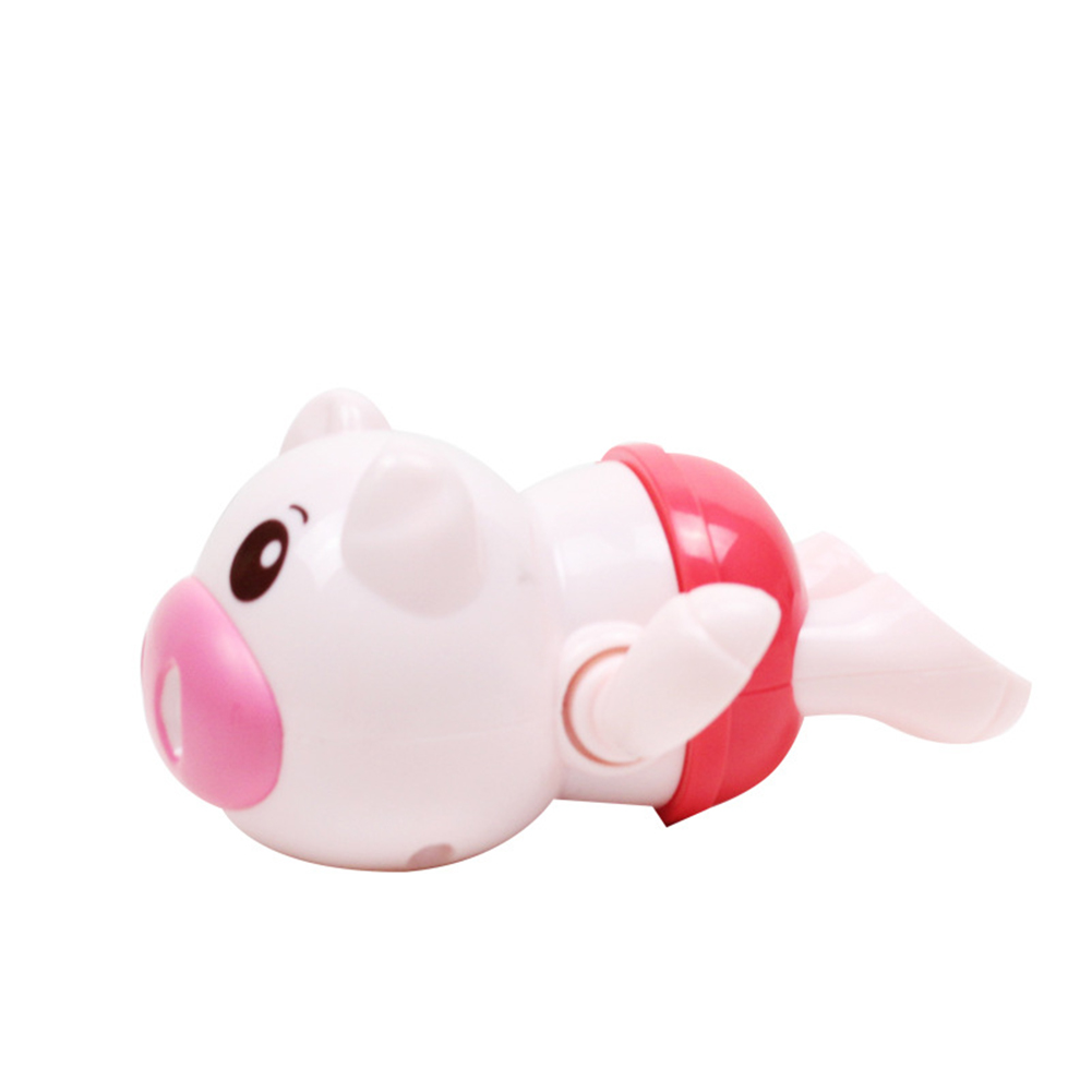 Baby Wind-up Clockwork Playing Toys Cute Cartoon Animal Shape Toy For Kids Piglet red