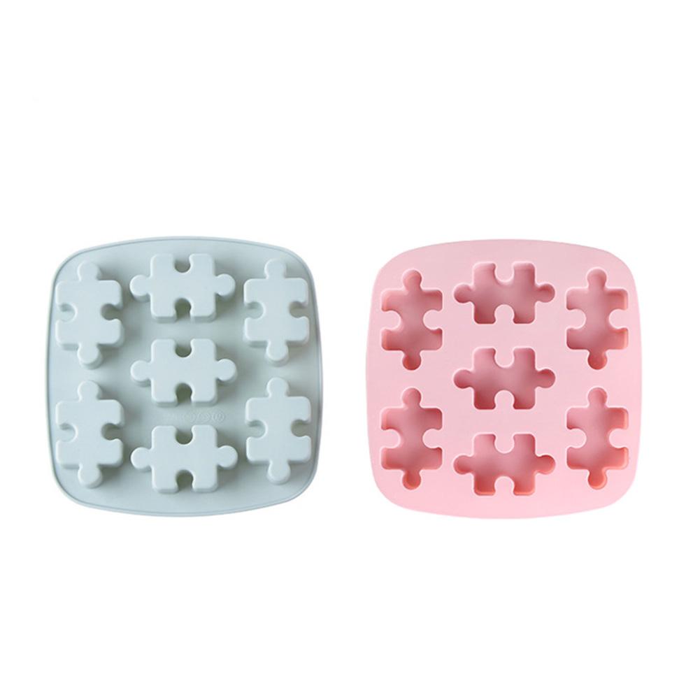 Puzzle Fondant Cake Silicone Mold Aroma Plaster Gypsum Mould DIY Ice Cube Chocolate Tray Random 1pcs