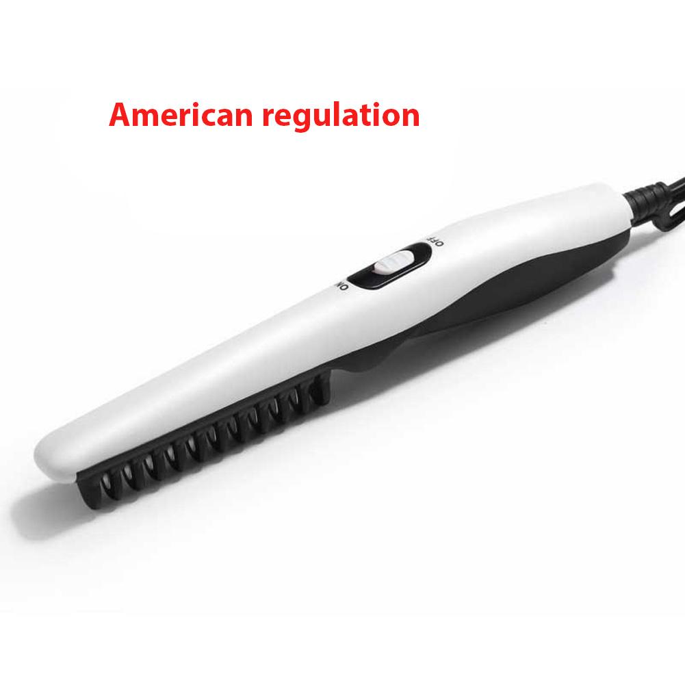 Styling Comb Beard Straightener Hair Electric Hot Comb Straightening Curling Brush U.S. regulations