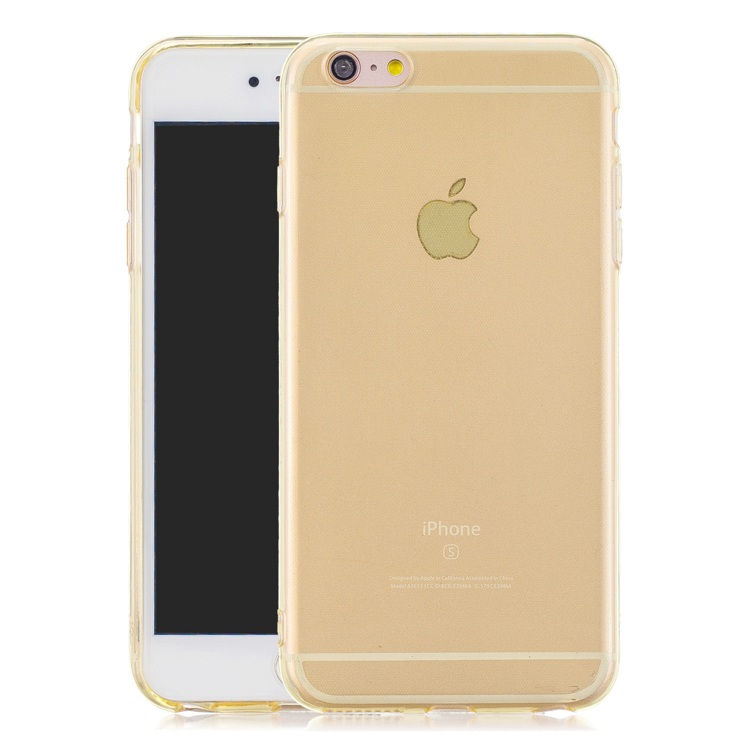 for iPhone 6/6S / 6 Plus/6S Plus / 7/8 / 7 Plus/8 Plus Clear Colorful TPU Back Cover Cellphone Case Shell Yellow
