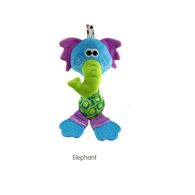 Kids Funny Bed Toys Animal Hand bells Baby Rattles Soft Toys Hand Shake Bell Children Early Learning Musical Development P25