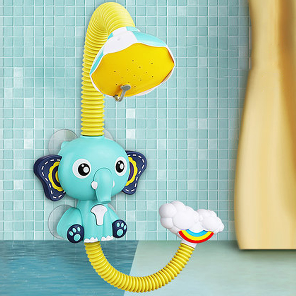 Sprinkler Bath Toy Beach Bathroom Kids Girls Boys Baby Elephant Bathing Water Baby Children Shower Pool Toys Elephant shower (blue)
