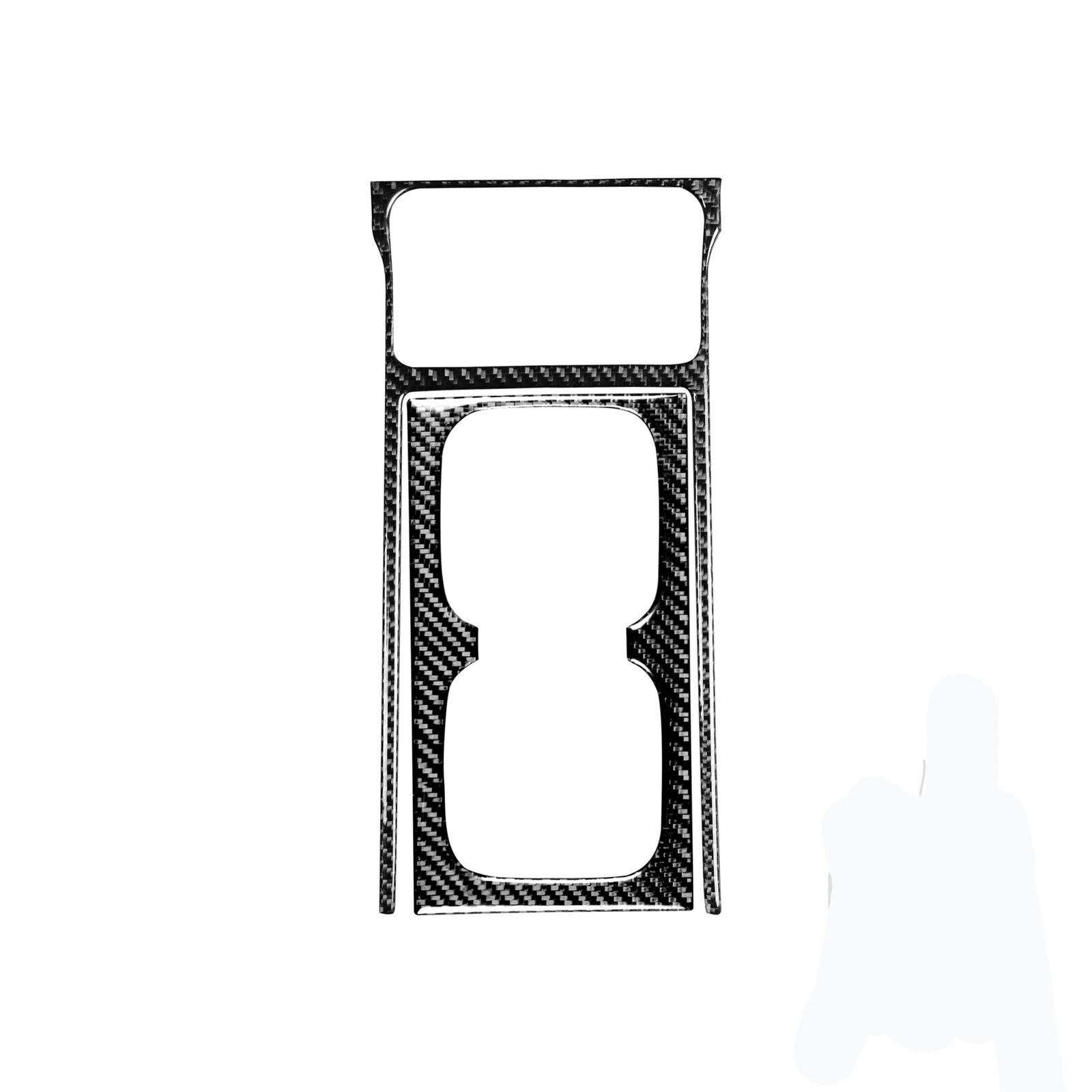 2-piece Set Carbon Fiber Watercup  Panel  Trim  Cover  Decor For 8th Generation Civic 2006-2011 Carbon black