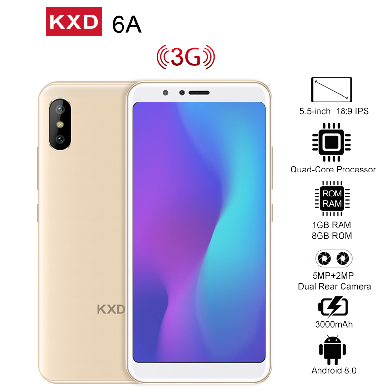 KXD 6A 8GB+1GB Cell Phone Gold