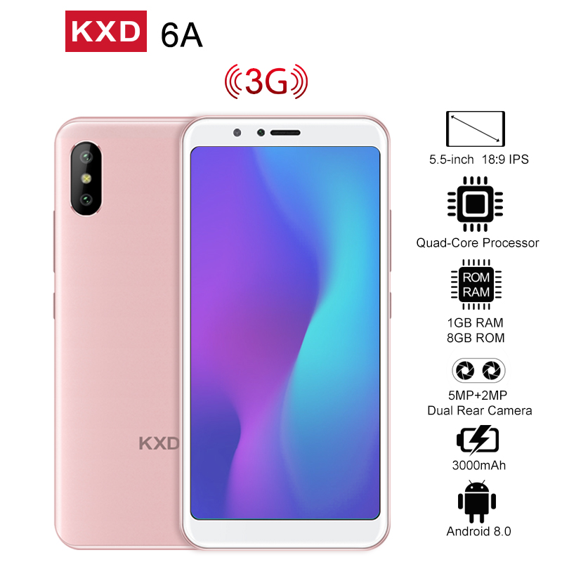 KXD 6A 8GB+1GB Cell Phone Blue