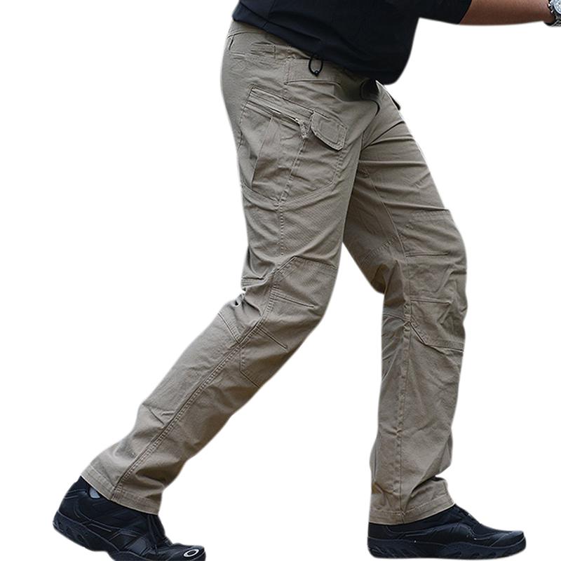Comfortable Wear-Resistant Tactical Cargo Pants with Pockets Khaki ix7_XXL