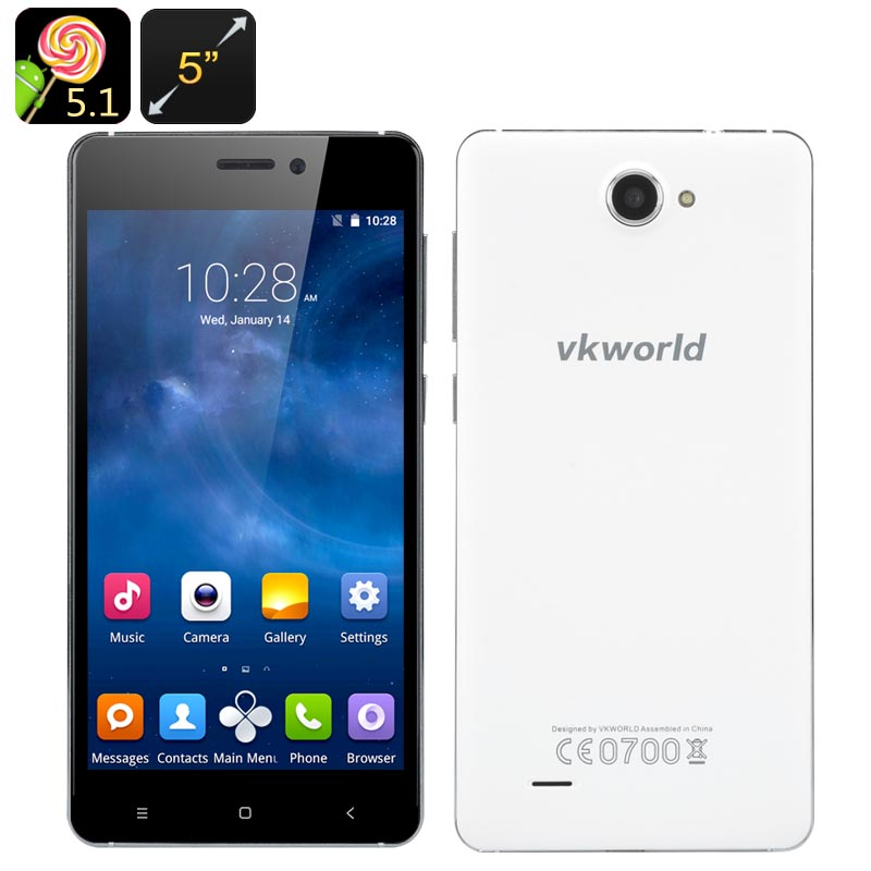 VKworld 700x Android 5.1 Smartphone (White)