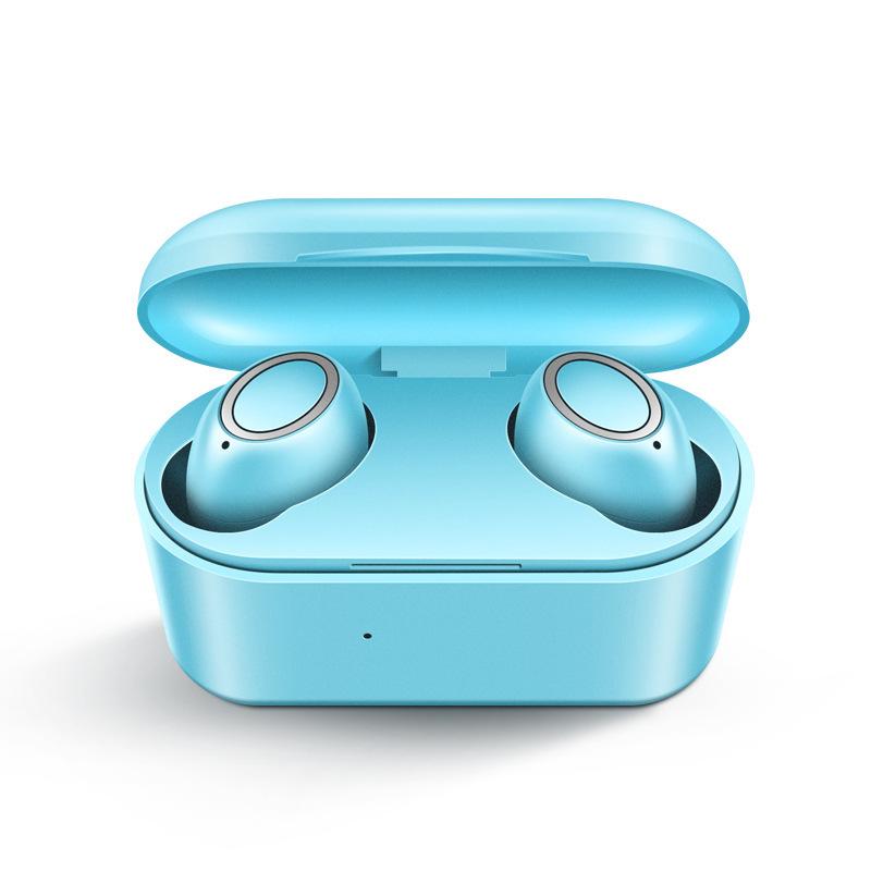 D015 TWS5.0 Wireless Headphone Bluetooth In-Ear Handsfree Headset Sport Earbuds blue