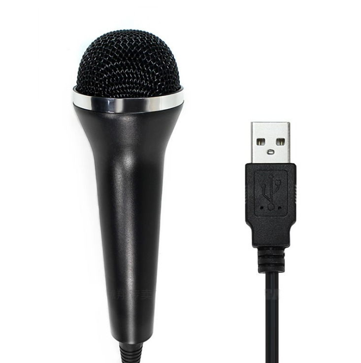 PS4PS3WII Wired Microphone with USB Port for PC/PS2 for XBOXONE/360 black