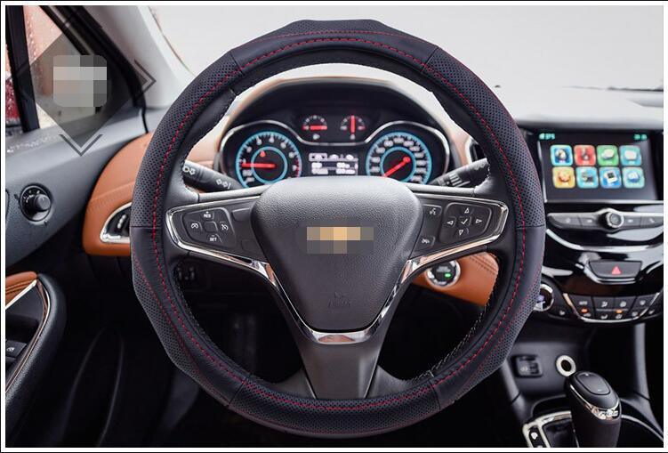 1 Pcs Genuine Leather Car Steering Wheel Cover Anti Slip Durable Universal 36cm 38cm 40cm