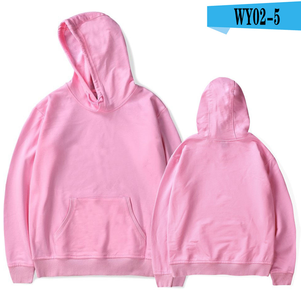 Men Thickened Pullover Hoodies Long Sleeves Solid Color Loose Hooded Shirt