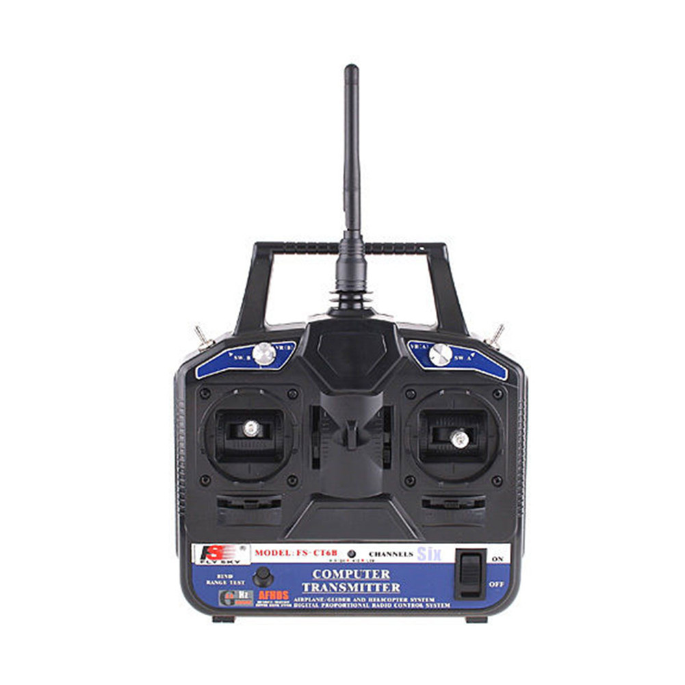 FlySky FS-CT6B+R6B 6CH Remote Control (Mode1/Mode2 for choose) Left throttle